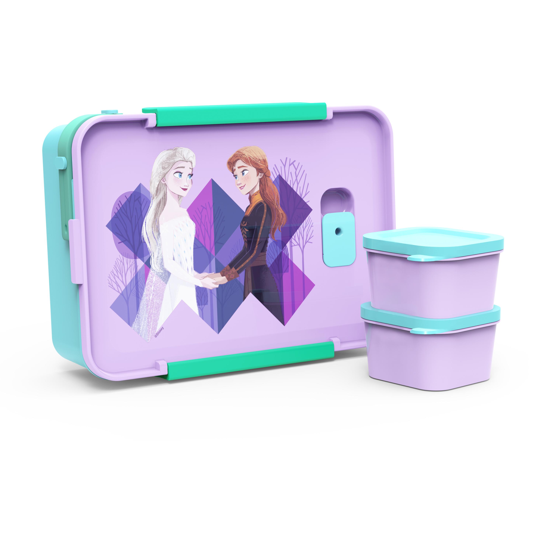 Disney Frozen 2 Movie Reusable Divided Bento Box, Elsa and Anna, 3-piece set slideshow image 4
