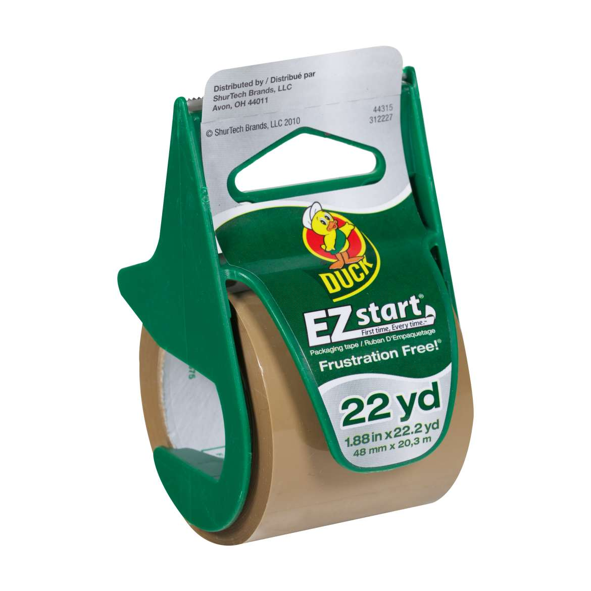 EZ Start® Packaging Tape with Dispenser - Tan, 1.88 in. x 22.2 yd. Image