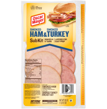 Oscar Mayer Smoked Ham & Smoked Turkey Subkit 28 oz Pack