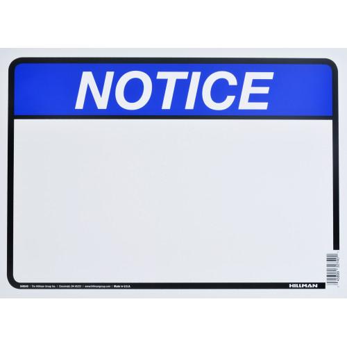 Blank Notice Sign (10