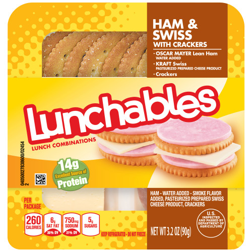 Lunchables Convenience Meals - Ham and Swiss, 3.2 oz.
