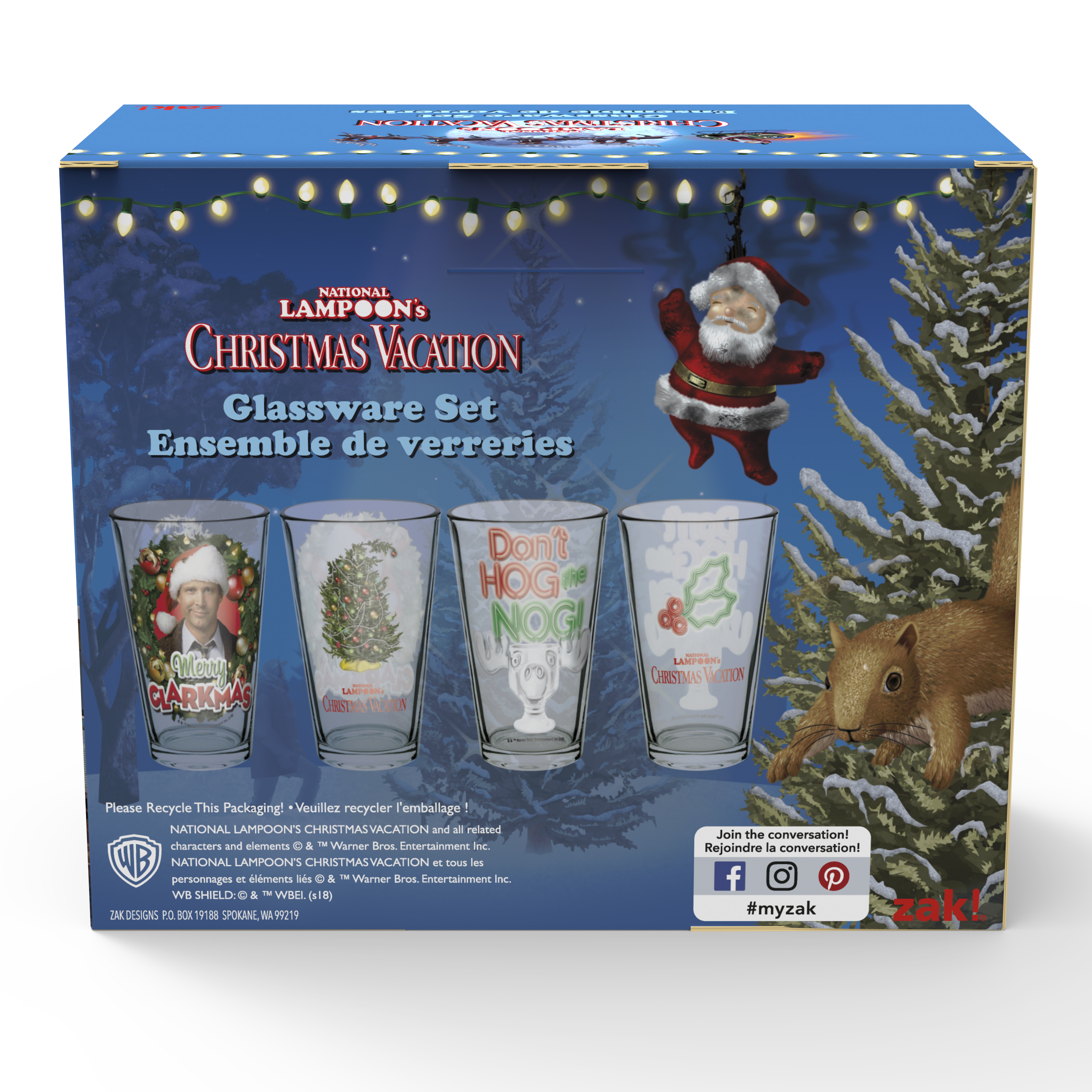 National Lampoon's Christmas Vacation 16 ounce Pint Glasses, Clark Griswold, 2-piece set slideshow image 4