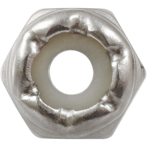 Stainless Steel Nylon Insert USS Coarse Stop Nut #6-32