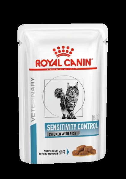 Feline Sensitivity Control Chicken With Rice (in gravy)