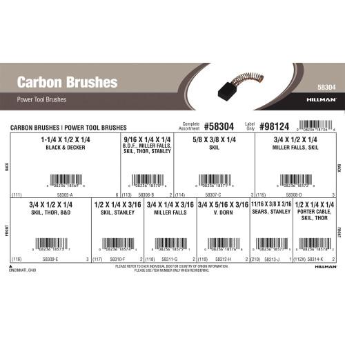 Carbon Brushes Assortment