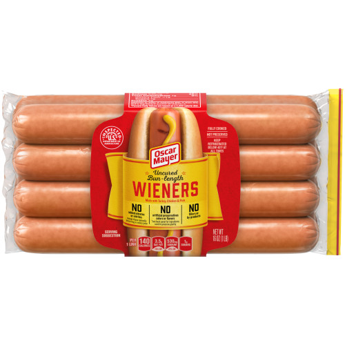Oscar Mayer Uncured Bun-Length Wieners 8 count