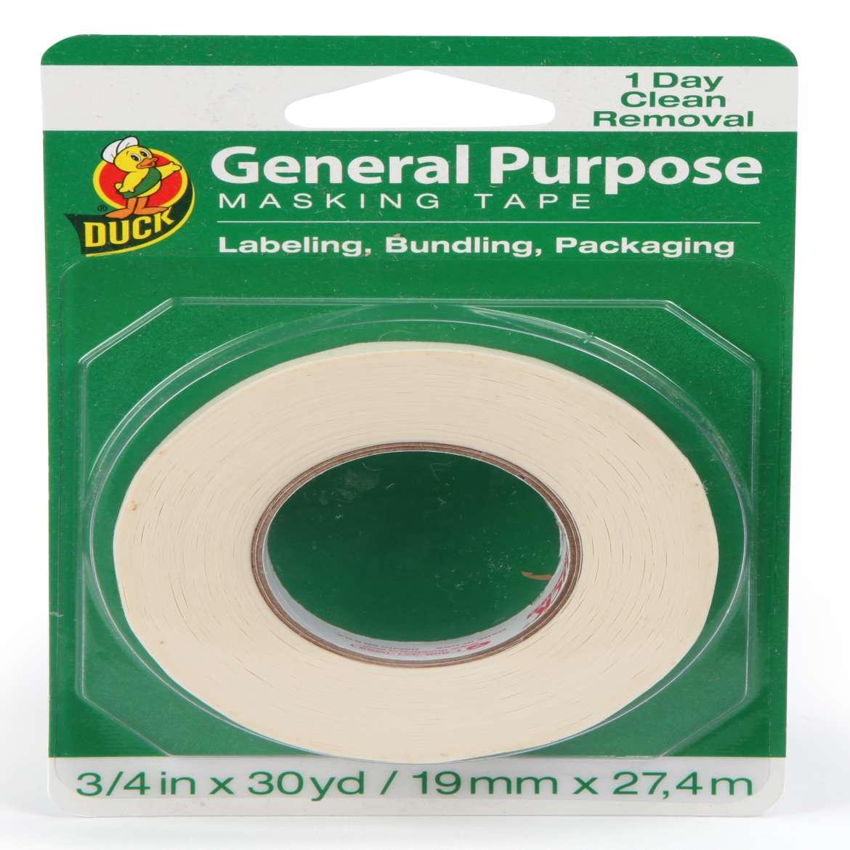 Duck® Brand General Purpose Masking Tape - Beige, .75 in. x 30 yd. Image
