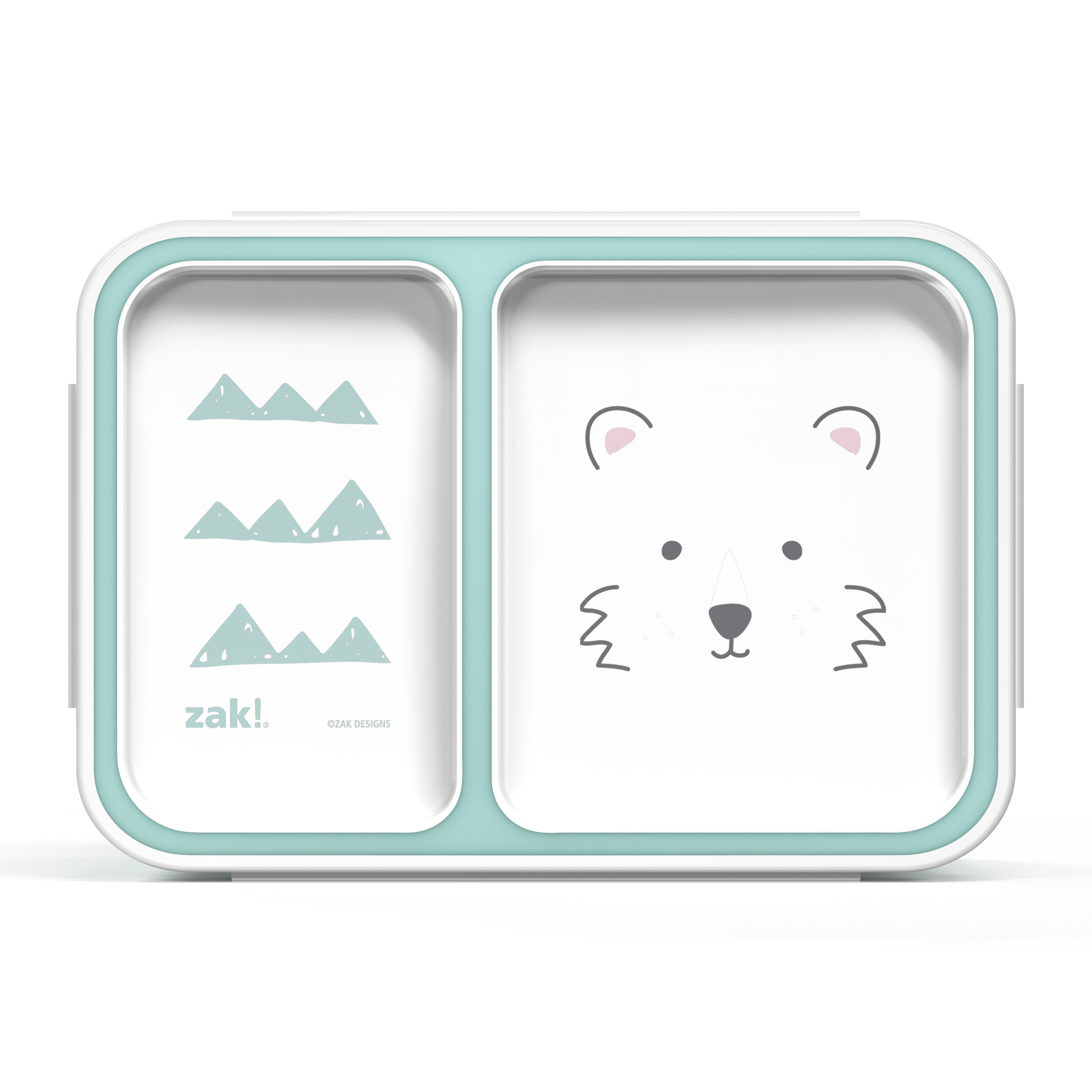 Soft Lines Dual-compartment Reusable Bento Box, Teddy Bears slideshow image 2