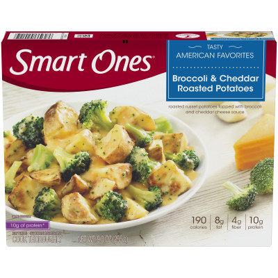 Weight Watchers Smart Ones Broccoli and Cheddar Roasted Potatoes 9 oz Box