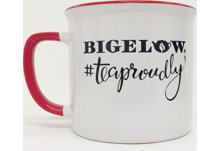White/Red #TeaProudly Mug