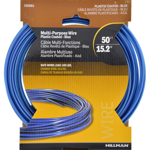 Hillman Blue Coated Galvanized Stranded Wire 3 strand 50ft