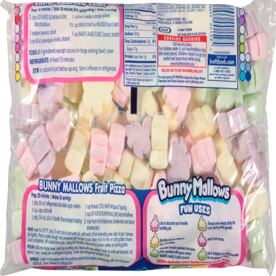 Kraft Jet-Puffed BunnyMallows Marshmallows 8 oz Wrapper