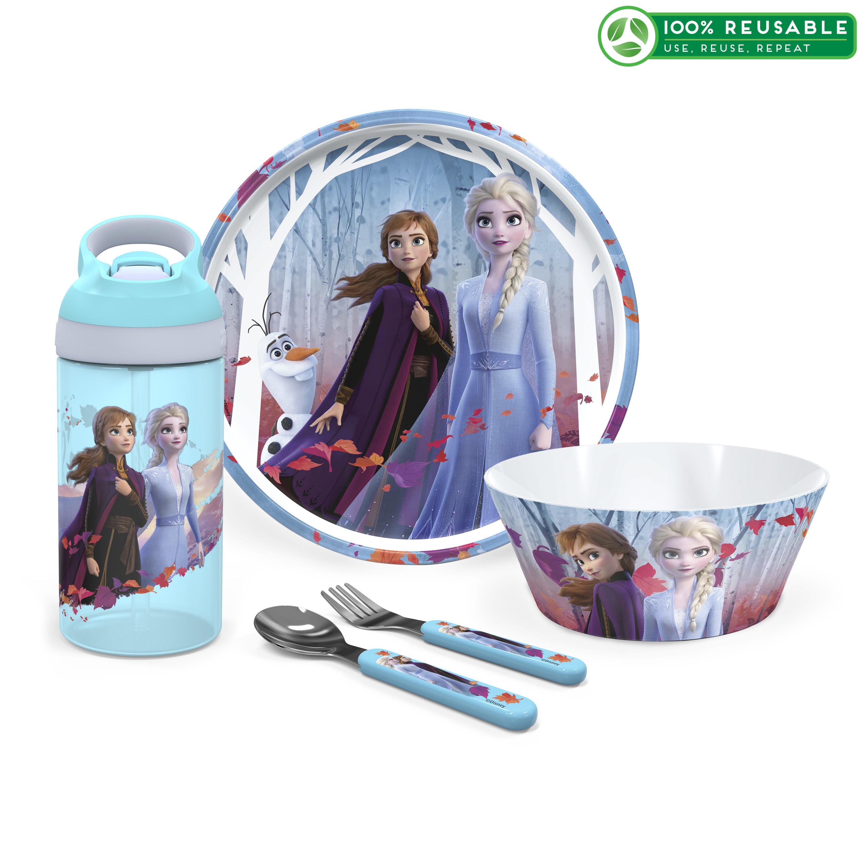 Disney Frozen 2 Movie Dinnerware Set, Anna and Elsa, 5-piece set slideshow image 1