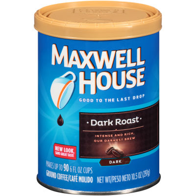 Maxwell House Dark Roast Ground Coffee, 10.5 oz Canister