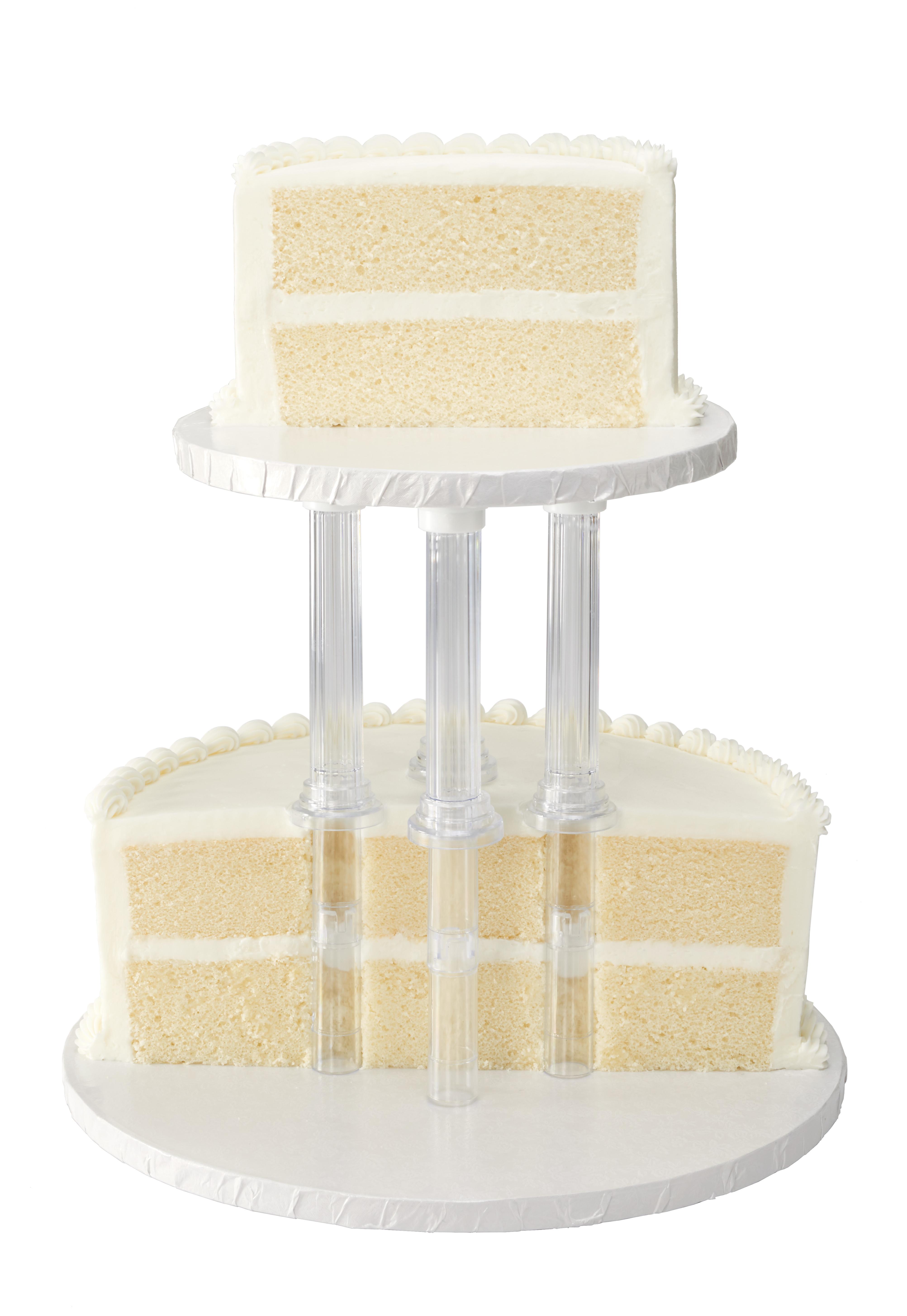 Separated 2 Tier Round 6 Quot Amp 10 Quot Cake Structure Set Decopac