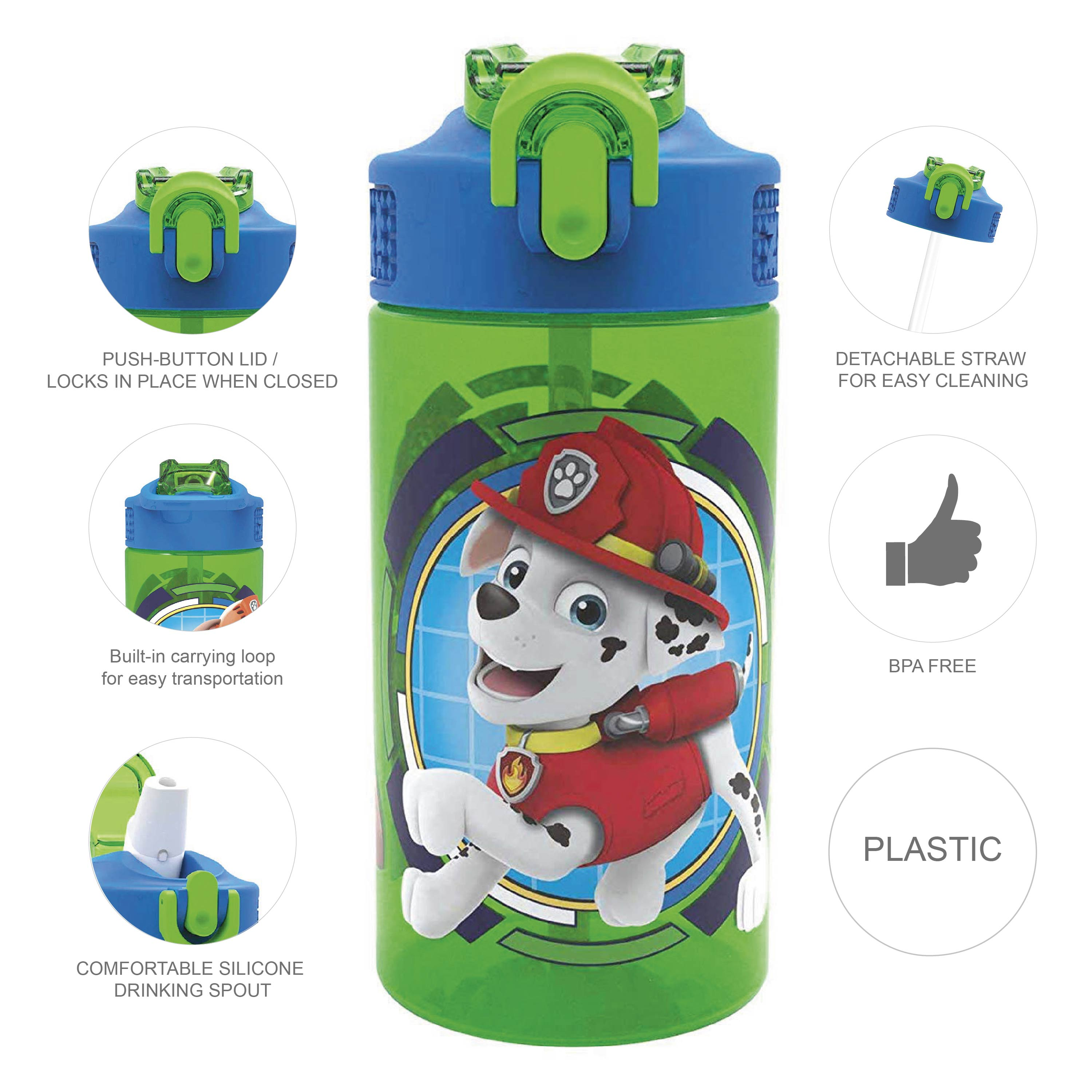 Paw Patrol 16 ounce Water Bottle, Rocky, Rubble & Chase slideshow image 8