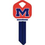 NCAA University of Mississippi Key Blank