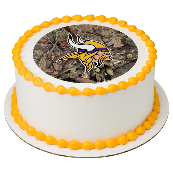 NFL Minnesota Vikings Mossy Oak® PhotoCake® Edible Image®