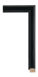 Black Reflections Black 1 3/8