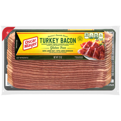 OSCAR MAYER Turkey Bacon, 12 oz. (Pack of 16)