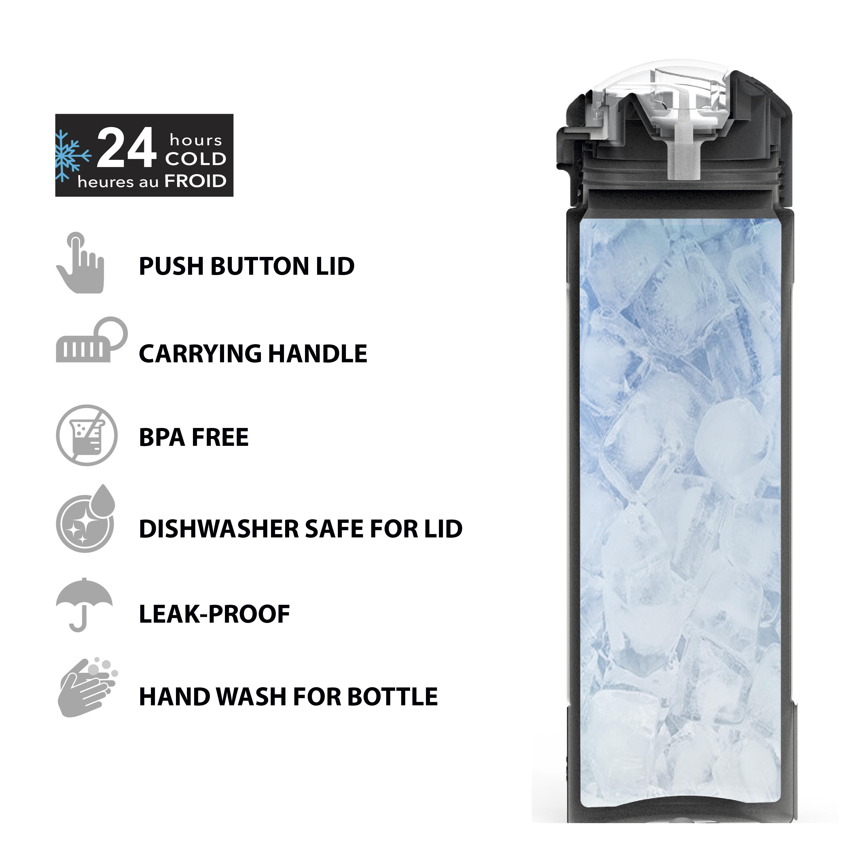 Genesis Vaccum Insulated Stainless Steel Water Bottle, Neo Mint slideshow image 4
