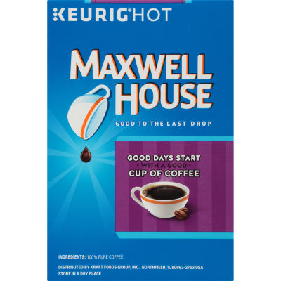 Maxwell House French Roast Coffee K-Cup Pods, 18 count