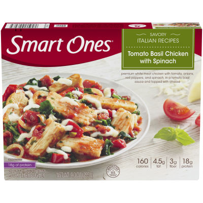 Smart Ones Savory Italian Recipes Tomato Basil Chicken with Spinach 9 oz Box