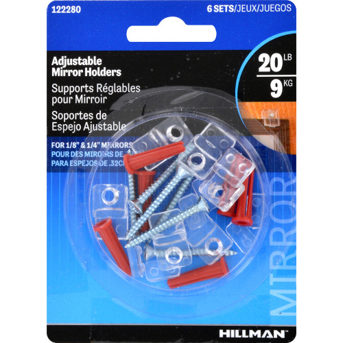 Hillman Adjustable Mirror Holders 6 Piece