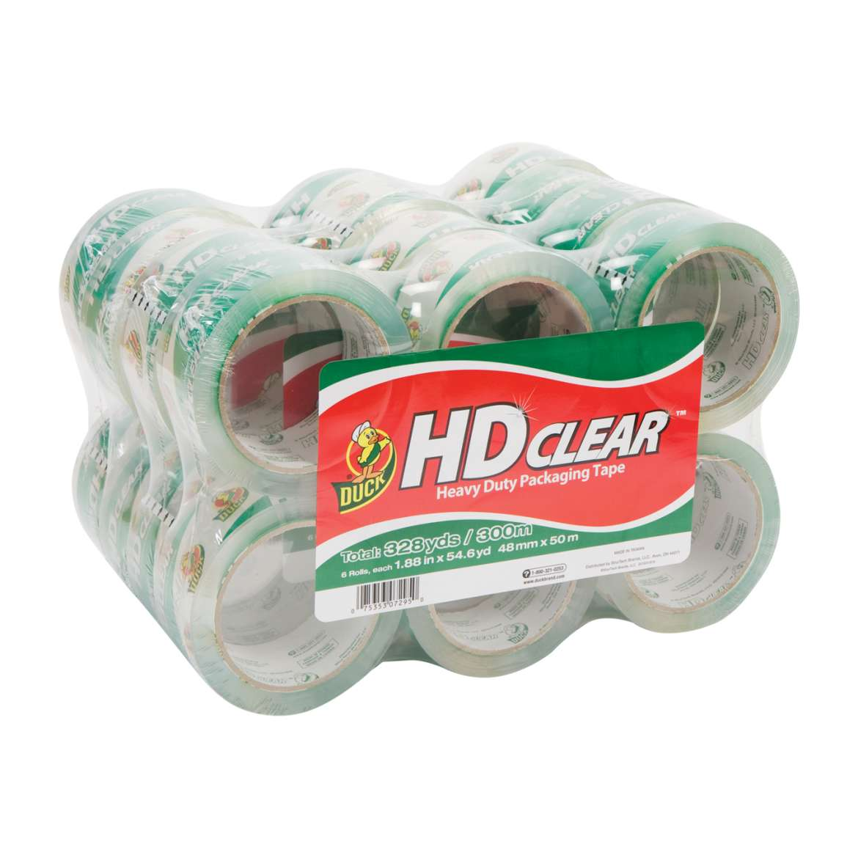 HD Clear™ Heavy Duty Packaging Tape - Clear, 24 pk, 1.88 in. x 54.6 yd. Image