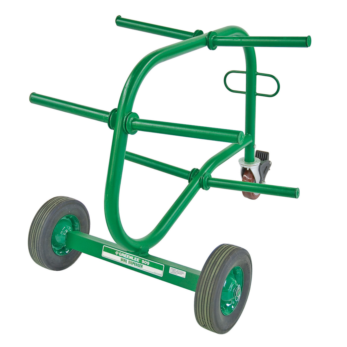 Greenlee 909 Wire Dispenser Cart w/ Six Reel Spindles and Feeding Eye
