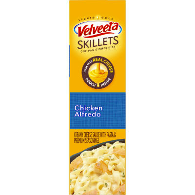 Velveeta Cheesy Skillets Chicken Alfredo Dinner Kit, 12.5 oz Box
