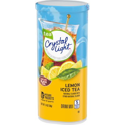Crystal Light Lemon Iced Tea Drink Mix 6 count Canister