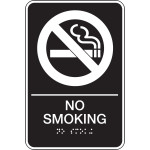 "ADA Compliant No Smoking Sign, 6"" x 9"""