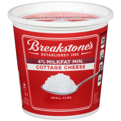 Breakstone's Small Curd 4% Milkfat Min. Cottage Cheese 24 oz Tub
