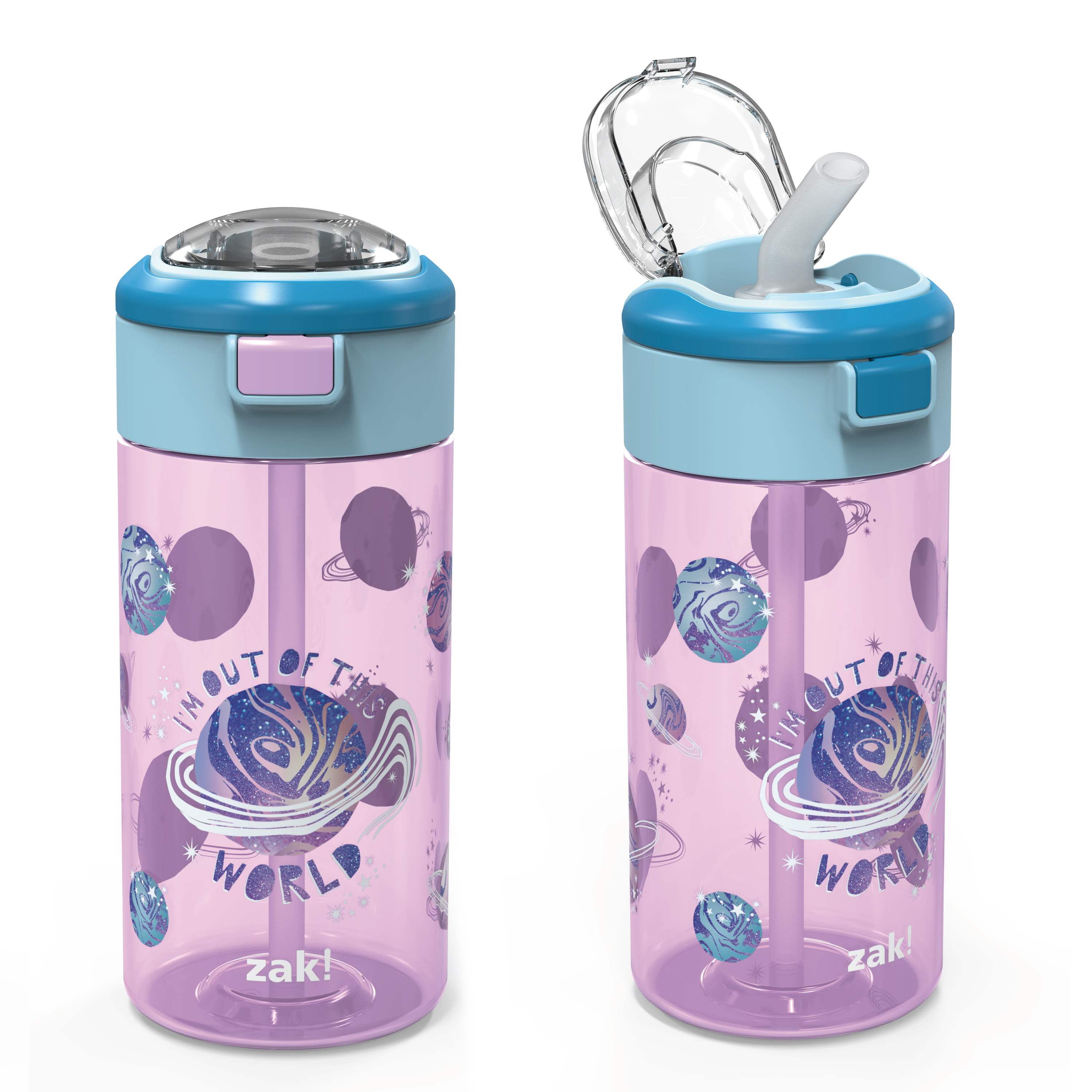 Genesis 18 ounce Water Bottles, Planet, 2-piece set slideshow image 5