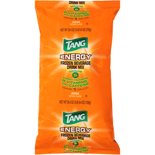 TANG Orange Energy Drink Powdered Beverage Mix, 25.4 oz. Pouch (Pack of 12)