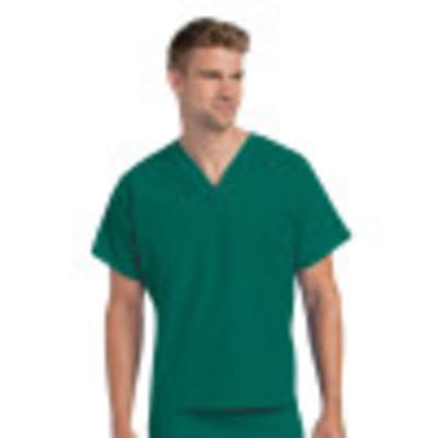 Landau Essentials V-Neck Scrub Top : 1 Pocket, Reversable, Unisex, Classic Relaxed Fit Medical Scrubs 7502-