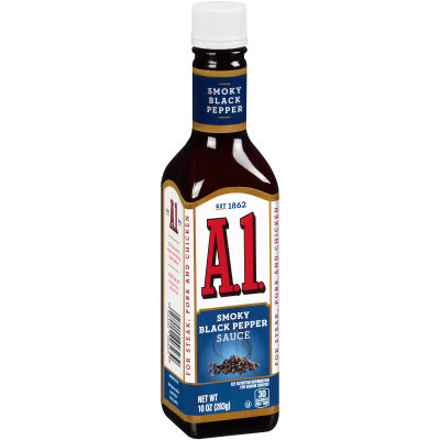 A.1. Smoky Black Pepper Sauce 10 oz Bottle