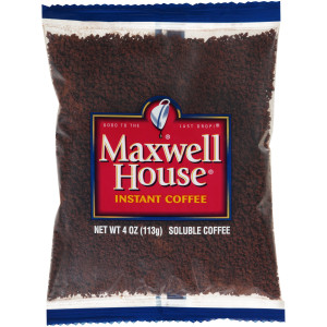 MAXWELL HOUSE Instant Soluble Coffee, 4 oz. Bag (Pack of 24) image