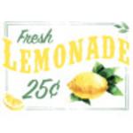 """Aluminum Fresh Lemonade Sign 10"""" x 14"""""""