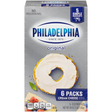 Kraft Philadelphia Original Cream Cheese Brick 48 oz Box (6 Packs)