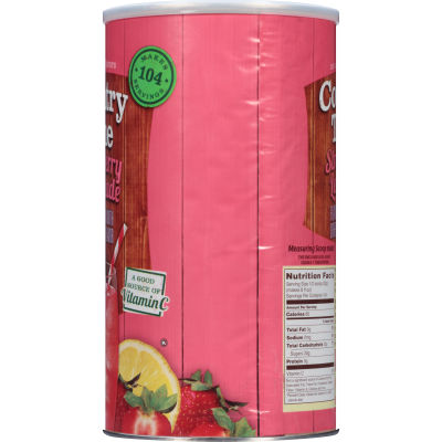 Country Time Sugar-Sweetened Strawberry Lemonade Powdered Soft Drink 80.64 oz Can