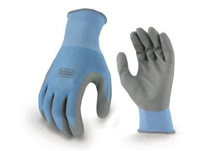 BLACK+DECKER BD513 Blue Ladies Foam Nitrile Grip Glove
