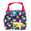 Grid Lock Purse Style Insulated Reusable Lunch Bag, Buses slideshow image 2