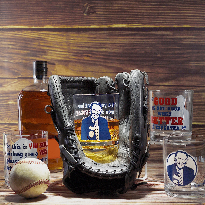 Zak Hydration 14.5 ounce Double Old Fashion Glass, Vin Scully, 4-piece set slideshow image 2