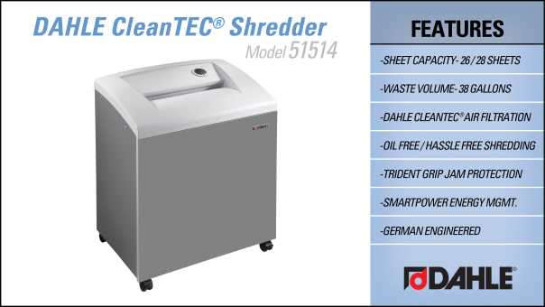 DAHLE CleanTEC® 51514 Department Shredder InfoGraphic