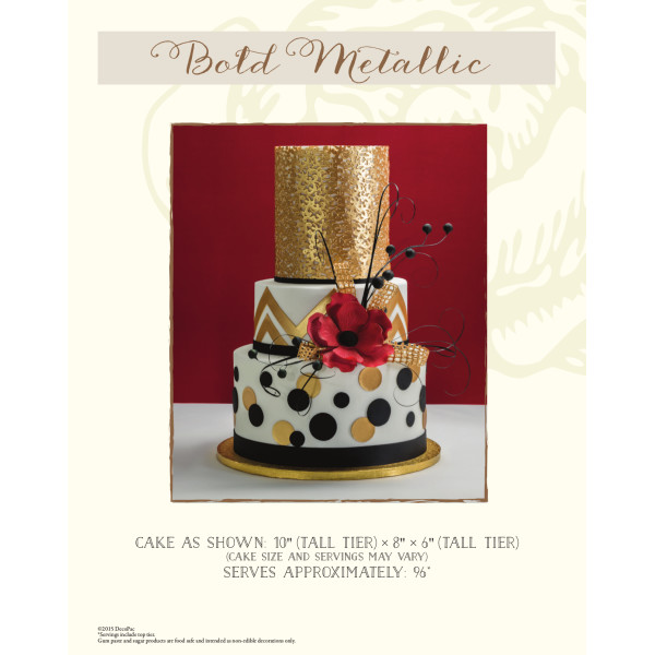Bold Metallic Wedding The Magic of Cakes® Page