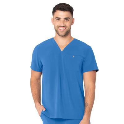 Urbane Performance One-Pocket Tuckable Scrub Top for Men: Modern Tailored Fit, V-Neck Medical Scrub Top 9154-
