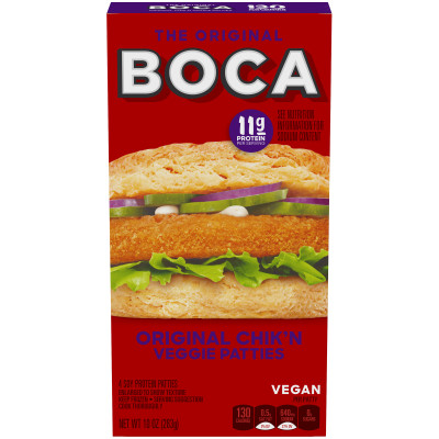 Boca Original Chik'n Vegan Patties 4 count Box