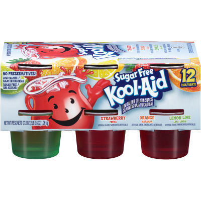 Kool-Aid Sugar Free Ready To Eat Gelatin Variety Pack 12 count Sleeve